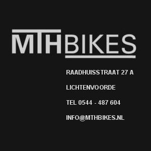 Logo MTH Bikes - Raadhuisstraat 27 A Lichtenvoorde - 0544 487 604 info@mthbikes.nl