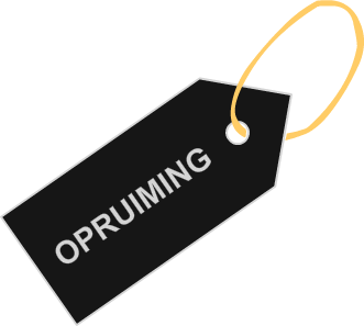 pricetag opruiming